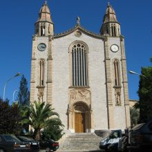 The church in Calvia town Majorca