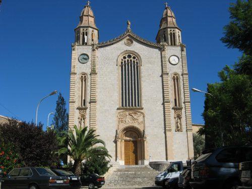 The church in Calvia town Majorca