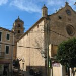 The church in the centre of Bunyola Majorca