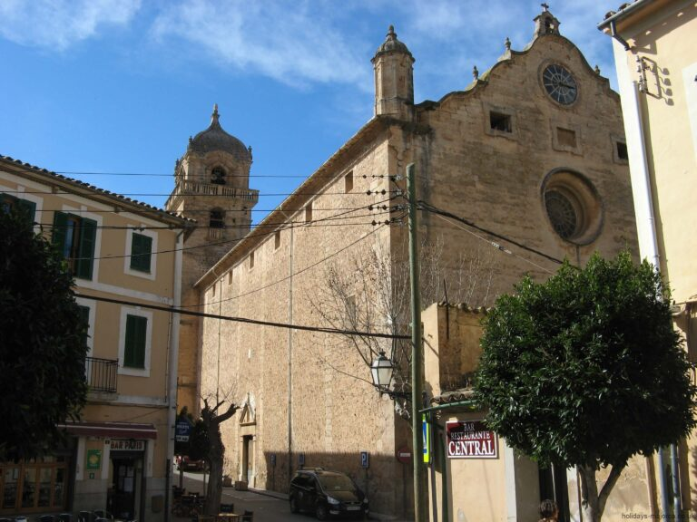 The church in the centre of Bunyola Majorca