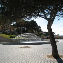 The fountain near the beach at Santa Ponsa Majorca