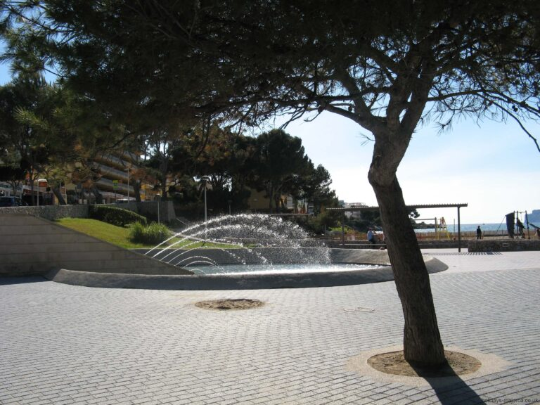 The fountain near the beach at Santa Ponsa Majorca