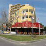 The front of the Britannia bar in Magaluf Majorca