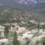 The hillside town of Deia in Majorca