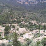 The hillside town of Deia in Majorca