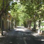 The main road through Esporles Majorca