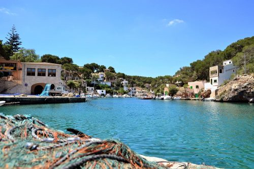 The natural harbour of Cala Figuera in Majorca