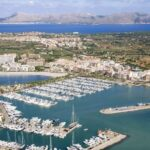 The port of Alcudia from the air