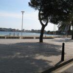 The promenade and view of Palma Nova across the bay in Majorca