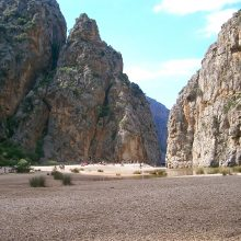 The ravine at the Torrent de Pareis Majorca