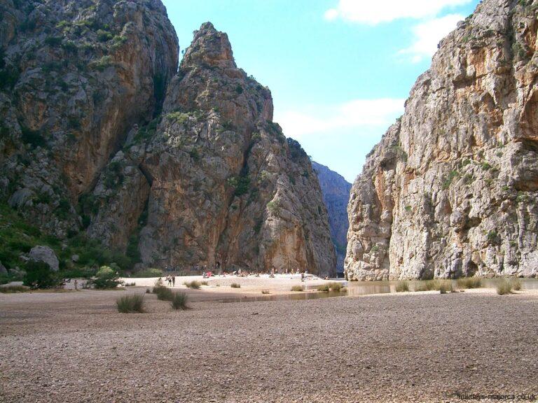 The ravine at the Torrent de Pareis Majorca