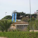 Two steep slides at Aqualand Magaluf Majorca