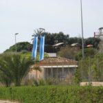 Two steep slides at Aqualand Magaluf Majorca
