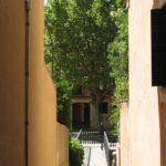 View through and alley in Esporles Majorca
