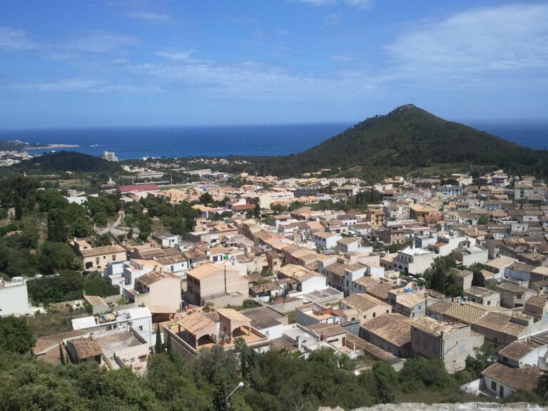 View to sea from the Capdepera fortress in Majorca