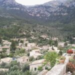 View to town from Deia cemetary Majorca