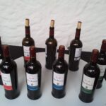 Wine bottles at the Pollensa wine festival