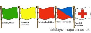 Majorca beach flags