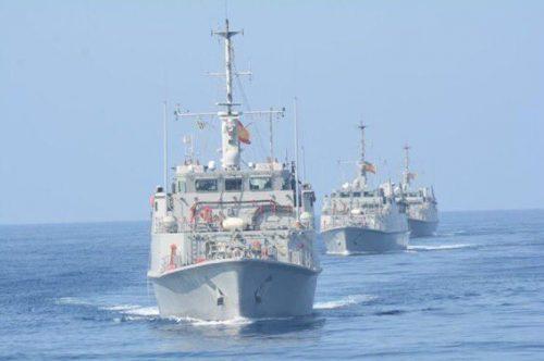 Spanish mine hunter ships