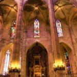 Palma Cathedral upper windows from inside
